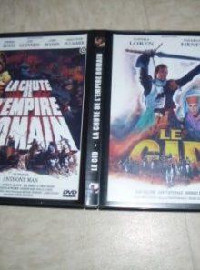 Boitier 2 dvd - le cid + la chute de l'empire romain