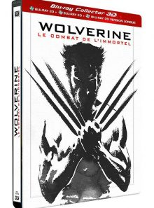 Wolverine : le combat de l'immortel - édition collector combo blu-ray 3d + 2d + 2d version longue boîtier steelbook