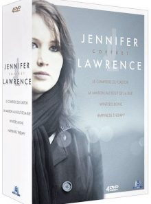 Coffret jennifer lawrence : le complexe du castor + la maison au bout de la rue + winter's bone + happiness therapy - pack