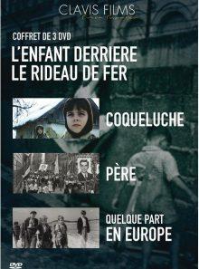 L'enfant derrière le rideau de fer - coffret 3 films : coqueluche + père + quelque part en europe - pack