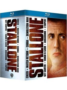 Stallone : creed + cobra + demolition man + match retour + tango & cash + assassins + l'expert - pack - blu-ray