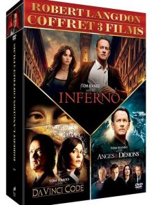 Robert langdon - da vinci code + anges & démons + inferno - dvd + copie digitale