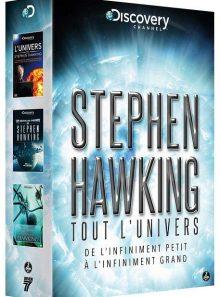Stephen hawking : tout l'univers - de l'infiniment petit à l'infiniment grand - pack