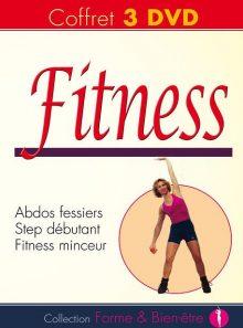Coffret fitness : abdos fessiers + step débutant + fitness minceur - pack