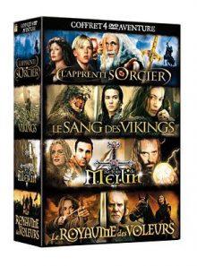Aventure, coffret 4 dvd:  l'apprenti sorcier - le sang des vikings - le retour de merlin - le royaume des voleurs