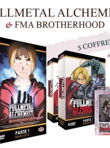 Fma - intégrale (1ère série + brotherhood) - dvd + 2 figurines - gold