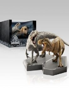 Jurassic park collection - coffret collector 4 blu ray + 2 dinosaures (blu ray)