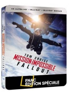 Mission : impossible fallout - steelbook blu-ray + blu-ray 4k edition spéciale fnac