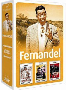 Fernandel - coffret 3 films : l'ennemi public n° 1 + le couturier de ces dames + honoré de marseille - pack