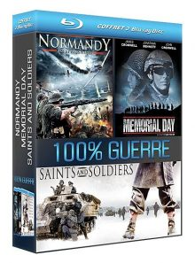 Coffret 100% guerre : normandy + memorial day + saints and soldiers - pack - blu-ray