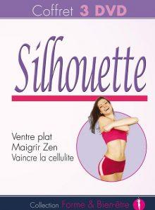 Coffret silhouette : avoir un ventre plat + maigrir zen + j'attaque ma cellulite - pack