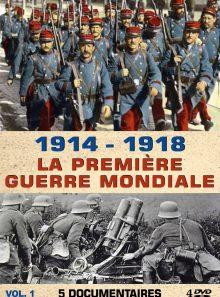 1914 - 1918 : la première guerre mondiale - 5 documentaires - vol 1 - 4 dvd