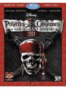 Pirates des caraïbes : la fontaine de jouvence - combo blu-ray 3d + blu-ray 2d