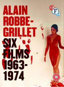 L'immortelle (1963)-trans-europ-express (1967)-l'homme qui ment (1968)-l'eden et après (1970)-n. a pris les dés (1971)-glissements progressifs du plaisir (1974)